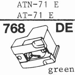 AUDIO TECHNICA ATN-71 E Stylus, diamond, elliptical