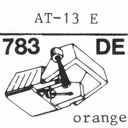 AUDIO TECHNICA ATS-13 AT-13E Stylus, diamond, elliptical