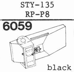 SHARP STY-132 stylus, sapphire, stereo