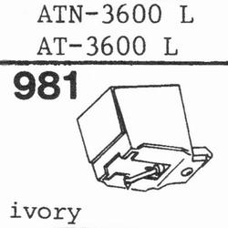AUDIO TECHNICA ATN-3600L stylus, diamond, stereo ORIGINAL