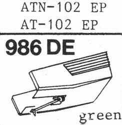 AUDIO TECHNICA ATN-102 EP Stylus, diamond, elliptical origin