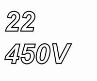 MUNDORF MLGO, 22uF, 450Vdc, 105ºC, audio grade+