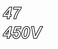 MUNDORF MLGO, 47uF/450V, ±20%, Electrolytic capacitor