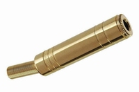 KACSA 6,3mm female connector, stereo, goldplated<br />Price per piece