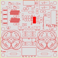 ELTIM PA-4766ps UFG, 2x50W Amplifier/power supply module
