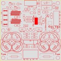 ELTIM PA-4766ps NHG LP, 2x50W Amplifier/power supply module