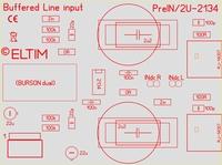 ELTIM PreIN 2U-2134, RCA Line IN buffer module, 2U