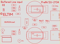 ELTIM Pre 330 Line IN buffer module with OPA-2134 IC, 3U