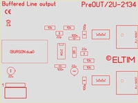 ELTIM PRe-330 Line OUT buffer module with OPA2134 IC, 3U