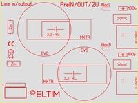 ELTIM PreIN/OUT-2U , RCA IN/OUT module, 2U