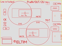 ELTIM Pre 330 Line IN module with RC filters, 3U