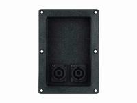 MONACOR CPA-10/SW,  PA terminal,plastic, black