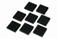 MONACOR LAV-8,  Rubber feet for speakers, 8pc