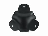 MONACOR MZF-8514/SW,  Metal corner 40mm, rounded, black