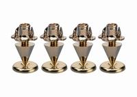 MONACOR SPS-10/GO,  Set of speaker spikes, 4pcs.