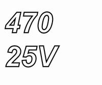 PANASONIC FCA,  470uF/25V electrolytic capacitor, radial, 10