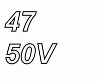 Panasonic FR, 47uF/50V, pitch 2,0mm, 105º, low ESR, 10.000hr