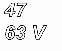 PANASONIC FRA, 47uF/63V, electrolytic capacitor, radial, 105