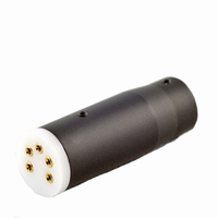 KACSA BP-310G, 5-pole DIN-plug, female, 270º, gold plated