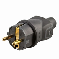 KACSA HD-PLUS, Euro power plug, gold plated