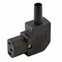 KACSA PC-1252G90, IEC female plug, 90º angled, goldplated