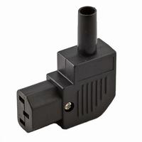 KACSA PC-1252G90, IEC female plug, 90º angled, goldplated