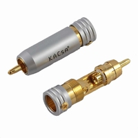 KACSA RP-85GT, RCA connector, gold plated, screw mount