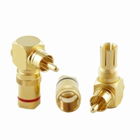 KACSA RP-210GT, angled, gold plated RCA connector
