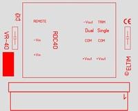 ELTIM VR-RDC40, Voltage converter/regulator module, 40W