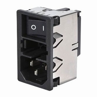 SCHURTER KM 01.1105, IEC entry with switch and fuseholder