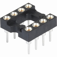 MPE Garry IC socket, 8pin, milled, gold plated