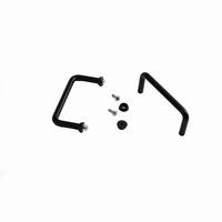 MODU 1MT0390N, Round handles, 3U, black. Price/pair