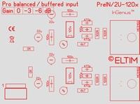 ELTIM PreIN 2U-120x,xLR balanced IN buffer module, 2U