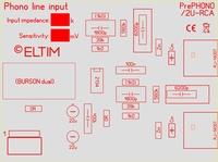 ELTIM PrePHONO 2U-RCA, MM/MC Phono amplifier module, 2U