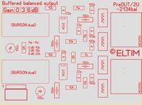 ELTIM PreOUT 2U-2134bal,xLR balanced OUT buffer module, 2U