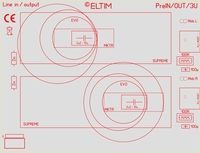 ELTIM PreIN/OUT 3U, RCA Linie EIN/AUS Modul, 3U