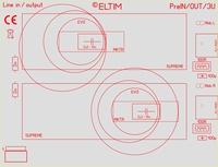 ELTIM PreIN/OUT-3U, RCA Line IN/OUT module, 3U