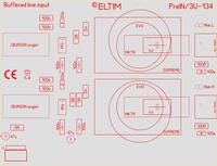 ELTIM PreIN 3U-134, RCA Linie IN Puffer Modul, 3U
