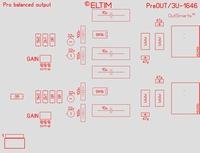 ELTIM PreOUT 3U-1646, Prof. balanziert AUS Puffer Modul, 3U