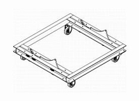 DAS AUDIO PL-12S, Steel transport dolly, black