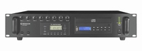 MONACOR PA-8120RCD, 4-mic/line, FM, CD, 1out mix amp, 100V