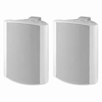 MONACOR EUL-80/WS, pair of wall mounted PA speakers, 100V