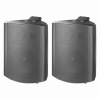 MONACOR EUL-60/SW, pair of wall mounted PA speakers, 100V