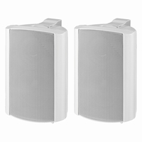 MONACOR EUL-30/WS, pair wall mounted PA speakers, 100V/8ohm