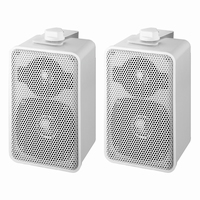 MONACOR EUL-42/WS, pair wall mounted PA speakers, 100V