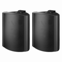 MONACOR EUL-80/SW, pair of wall mounted PA speakers, 100V