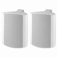 MONACOR EUL-60/WS, pair of wall mounted PA speakers, 100V