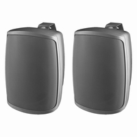 MONACOR WALL-04/SW, pair wall PA speakers, 100V/8Ω, IP65