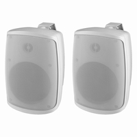 MONACOR WALL-04/WS, pair wall PA speakers, 100V/8Ω, IP65