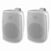 MONACOR WALL-05/WS, pair wall PA speakers, 100V/8Ω, IP65